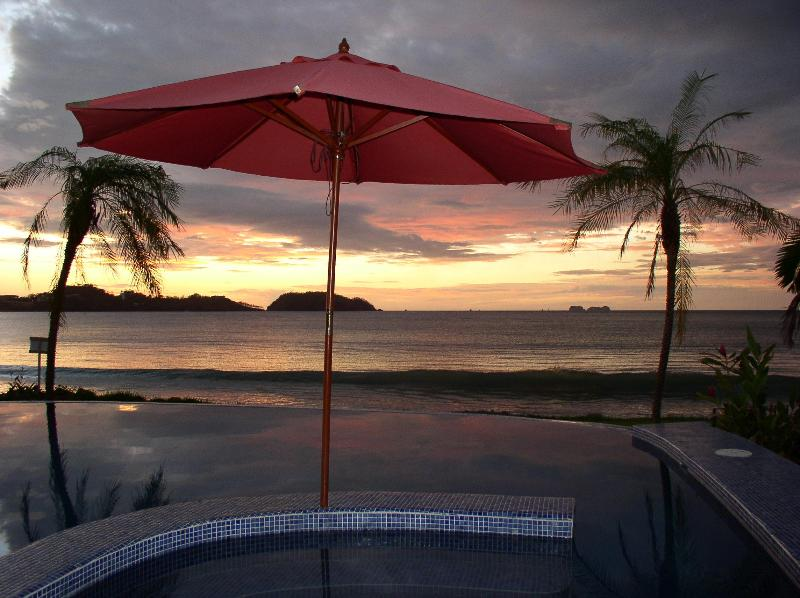 Beautiful Sunsets every afternoon.  You just have to be here. - Luxury 5 bd 5 ba Villa/Infinity Pool On the Beach - Potrero - rentals