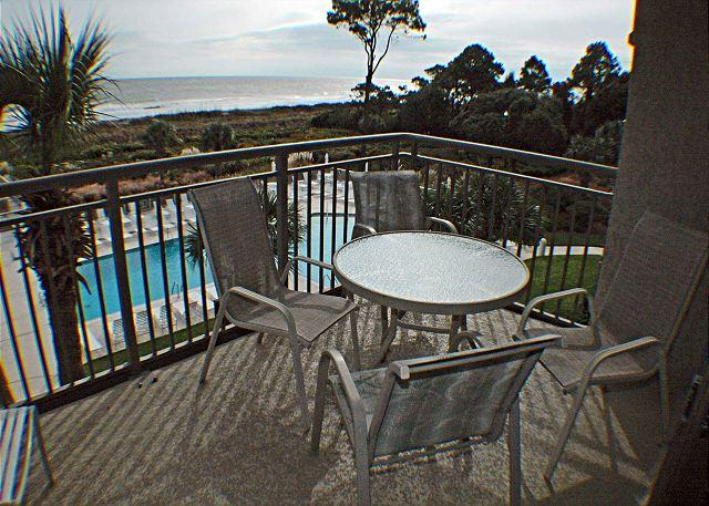 Ocean One 409 Balcony Overlooking Ocean and Pool - Ocean One 409 - Oceanfront 4th Floor Condo - Hilton Head - rentals