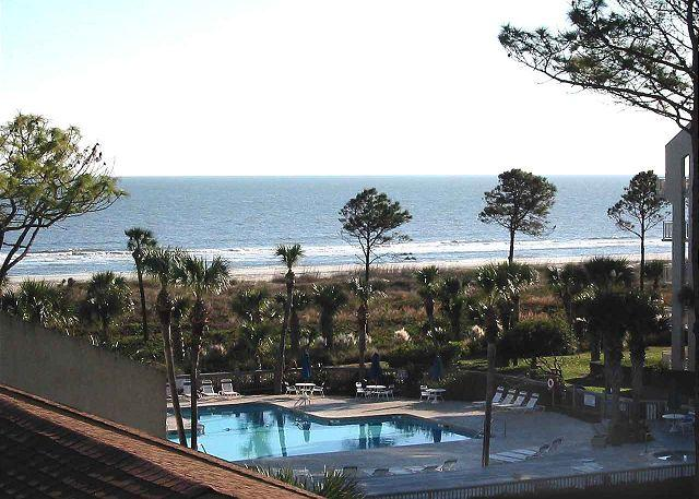 Shorewood 430 View from Balcony - Shorewood 430 - New Unit - Stunning Oceanview 4th Floor Condo - Hilton Head - rentals