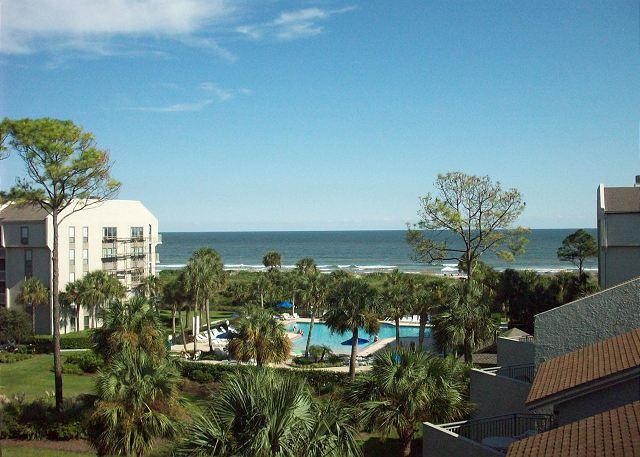 View From the Balcony - Shorewood 438 - Beautiful Oceanview 4th Floor Condo - Hilton Head - rentals