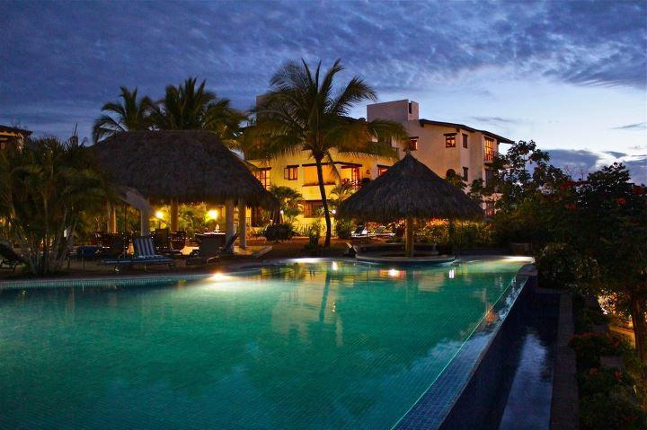 The infinity pool at night - Oceanview 2BRw/terrace, 2 blocks from Los Muertos! - Puerto Vallarta - rentals