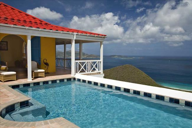 Sunny Side Up at Morningside Lane, Tortola - Ocean View, Amazing Sunset View, Pool - Image 1 - Belmont - rentals