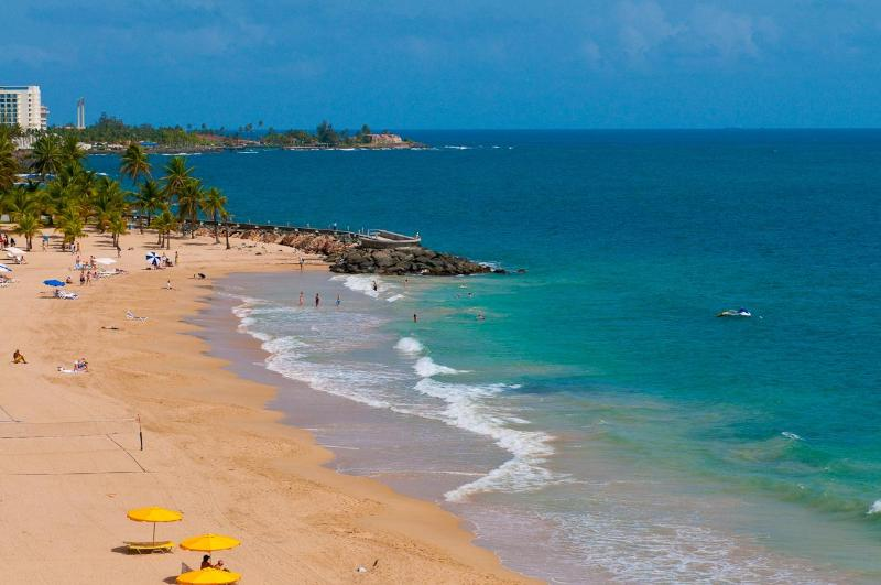 View Of Beach From Window Of The Condo - Oceanfront Getaway For Two - San Juan - rentals