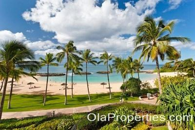 Beach Front View from Lanai & Living Areas - Beach Villas BT-309 - Ko Olina Beach - rentals