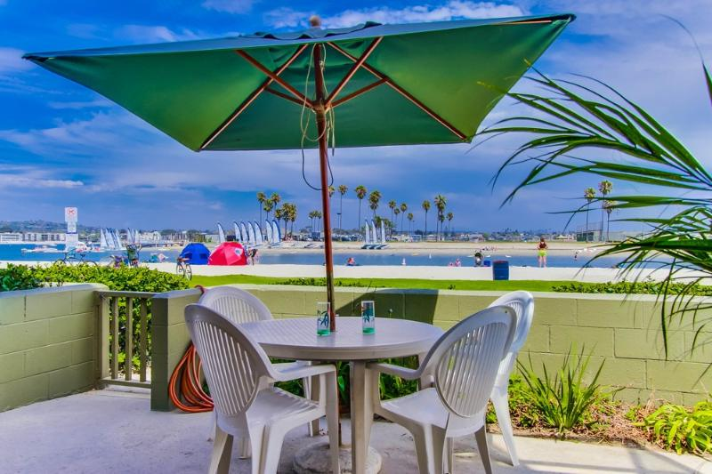 Your patio views - Bayfront Beauty.  Huge waterfront outdoor patio! - Mission Beach - rentals