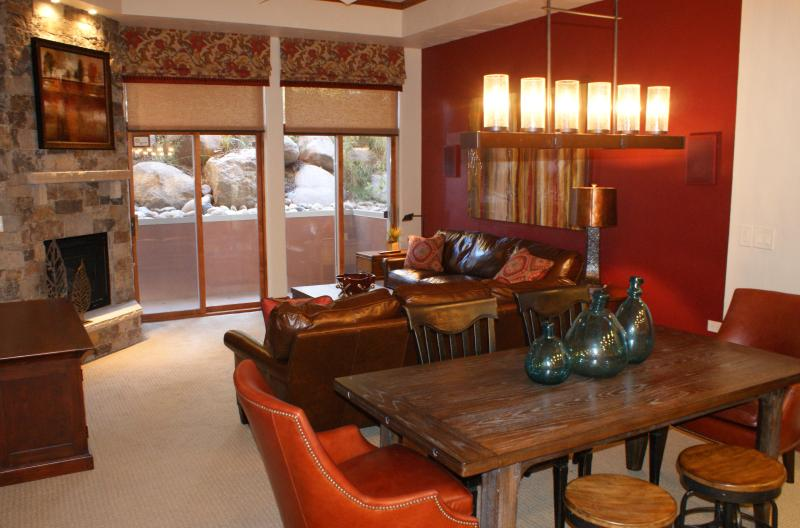 Living Room and Dining Area - PRE HOLIDAY SPECIALS! LUXURY 3B/3B in Beaver Creek - Beaver Creek - rentals