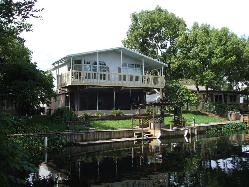 View from Canal - 3 Bed/3 Bath Waterfront House, Huge Dock, Manatees - Weeki Wachee - rentals