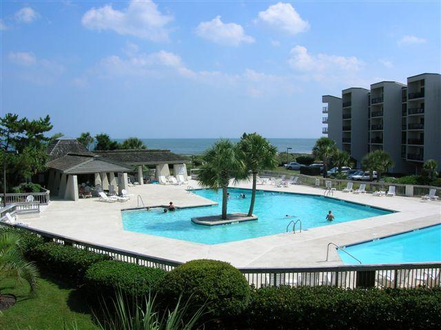 Pool Area with hot tub and 2 pools - Captains Quarters C-25 at Litchfield By The Sea - Pawleys Island - rentals