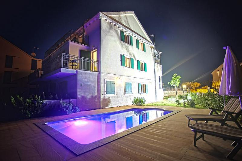 Villa Milena at night - Villa Milena 2 Bed - Island Brac - rentals