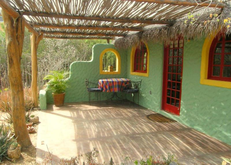 Front porch - Garden Casita: A 1 bedroom studio in Cabo Pulmo - Cabo Pulmo - rentals
