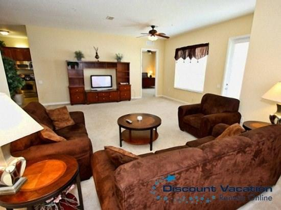 Living Area - VC3C4804CA-408 Tastefully Decorated 3 Bedroom Town Home Near Disney - Orlando - rentals