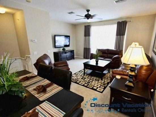 Living Area - VC3T4845TA-143 3 BR Townhouse in Gated Vista Cay Community - Orlando - rentals