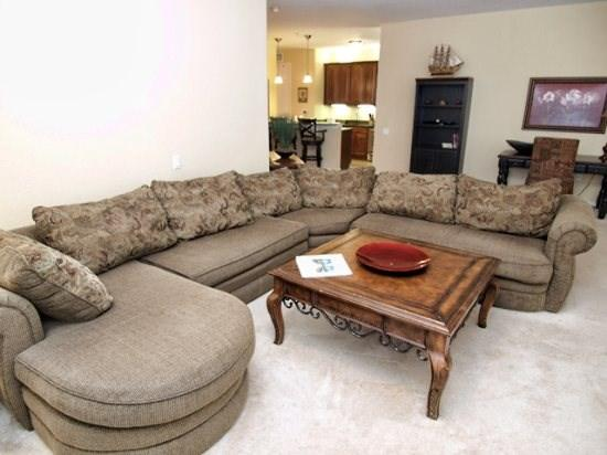 Living Area - VC3C5048SL-208 3 BR Traditionally Decorated Condo with Internet and Cable - Orlando - rentals