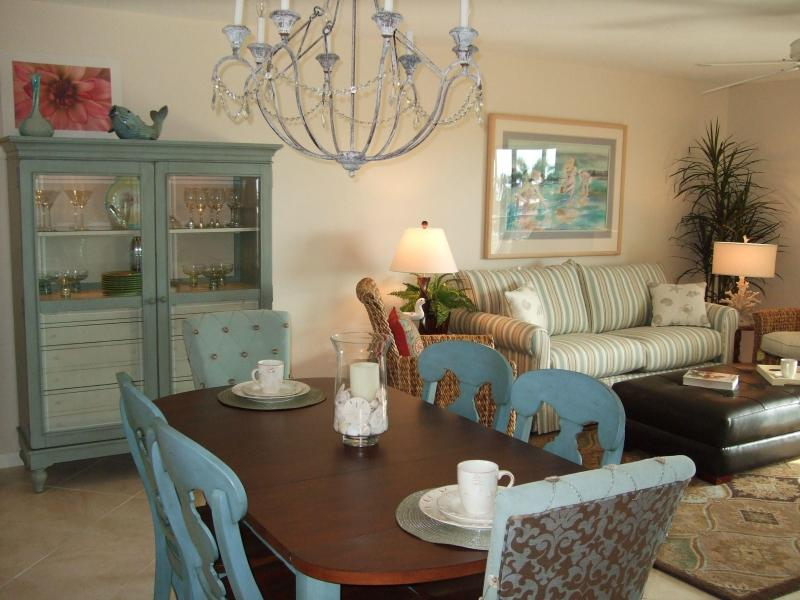 Dining Area with table for six - Totally Redone 2 bedroom condo on Ft. Myers Beach! - Fort Myers Beach - rentals