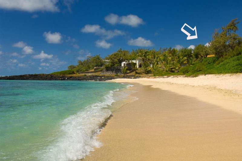 Exclusive private beach. - Villa Lime Kiln, Beachfront, Very Romantic. - Grand Baie - rentals