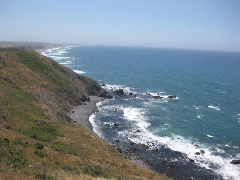 Balcony view of private gated beach - Irish Beach-Villa Mer-Mendocino Coast Oceanfront - Manchester - rentals