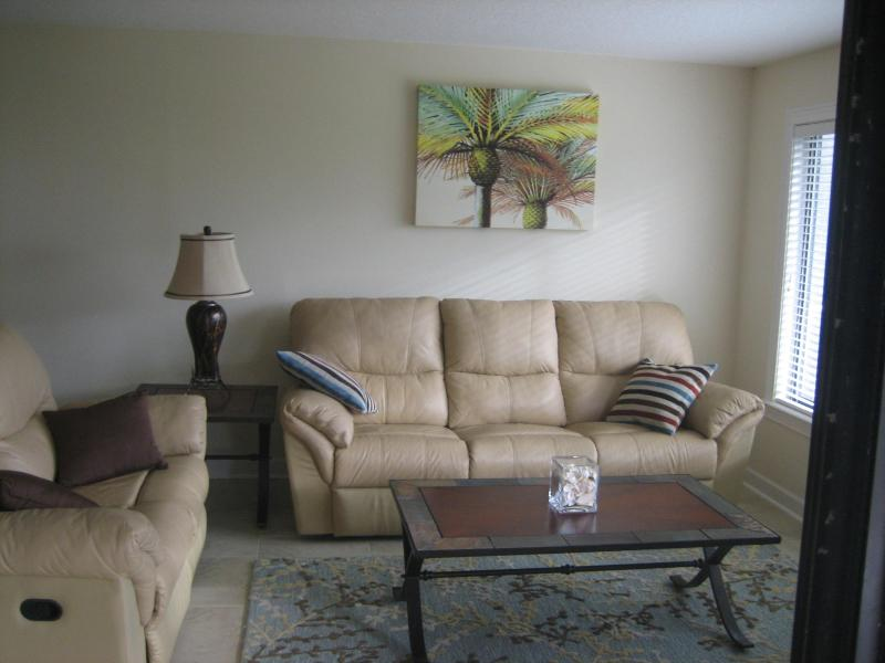 Living area from balcony - August Special $1100 weekly--Oceanfront property - Saint Augustine Beach - rentals