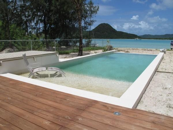 Out of the Blue Beach House - Jolly Harbour, Antigua - Beachfront, Gated Community, Pool - Image 1 - Jolly Harbour - rentals