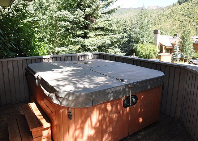 Private hot tub - Bighorn Townhomes A2 - Townhome in East Vail - Vail - rentals