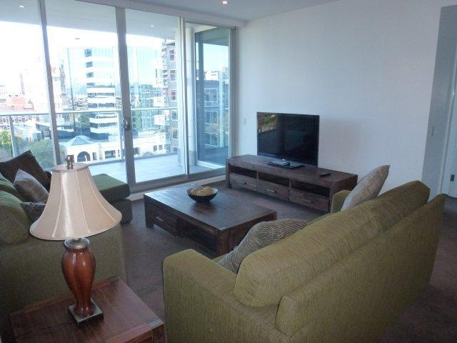 Lounge Dining Area looking towards the balcony - Luxury in the Sky in Hindmarsh Square - Adelaide - rentals