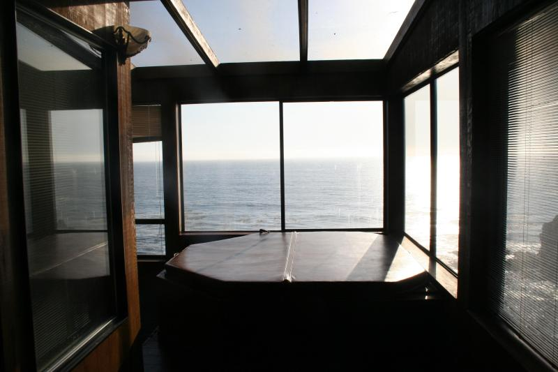 Large spa with windows to the world - Magnificent Ocean View 4BR overlooking the Pacific - Gualala - rentals