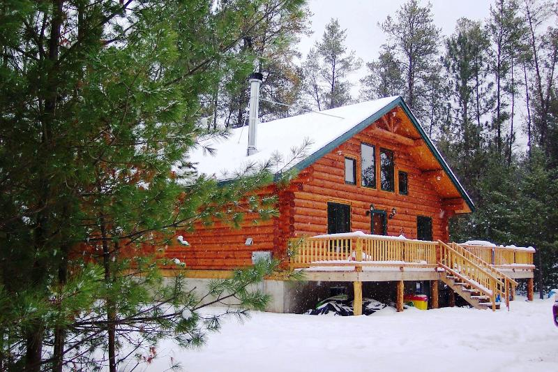 Buckhorn Lake Cabin in the winter - Unique Handmade Log Cabin, Lots of Amenities,Lake - Merrillan - rentals