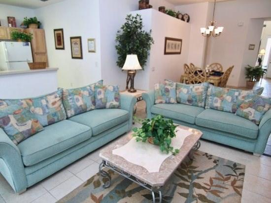 Living Area - WH5P7756TS 5 Bedroom Home with 5 Master Suites - Kissimmee - rentals