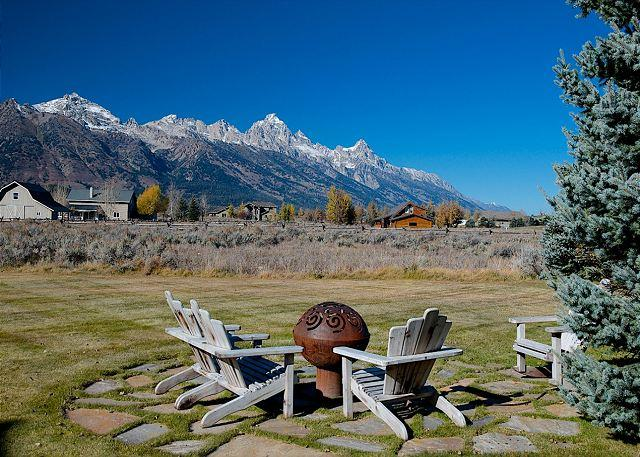 Gas Fire Pit...with a View! - Western elegance, solitude and scenery with majestic Teton views!! - Jackson - rentals