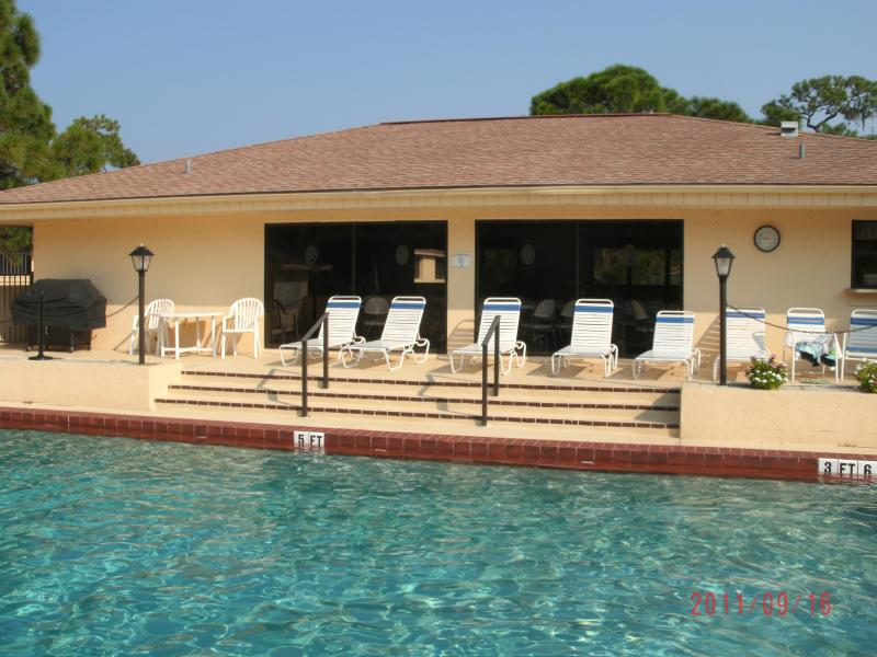 Clubhouse with a heated pool - CONDO-2 bdrm w/garage close to Englewood beach, FL - Englewood - rentals