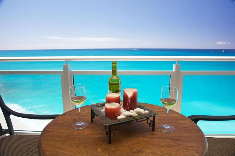 The suite has spectacular views of the Caribbean Sea - Large 1 BR at The Cliff at Cupecoy Beach Hotel - Cupecoy - rentals