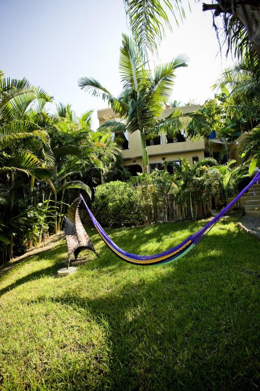 Fenced in Yard with Hammock - 3 BR Luxury Villa with Ocean Views Sayulita Mexico - Sayulita - rentals
