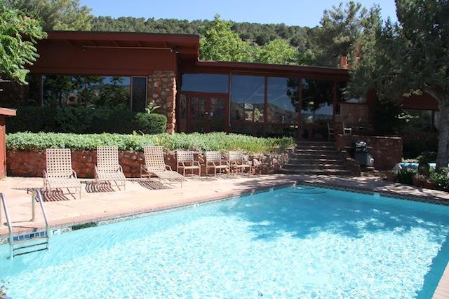 Front of Main House with Pool - Private Rooms Pool View/Individual Family or Group - Sedona - rentals
