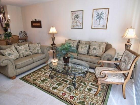 Living Area - VC3T5003TC-51 3 Bedroom Pet Friendly Townhouse with TVs All Beds - Orlando - rentals