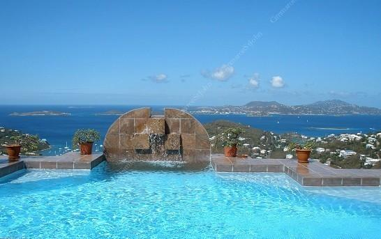 Incredible westerly view beyond private pool - Sunset Vista - U.S. Virgin Islands - rentals