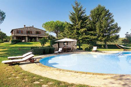 Hilltop Villa Monti with a library, billiard room, fireplace and pool house - Image 1 - Todi - rentals