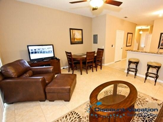 Family and Dining Area - WH3T7669SKC 3 BR Townhome with Mickey & Minnie Themed Bedroom - Kissimmee - rentals