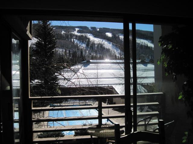 One of two patios with table & two chairs; Runs right outside our window! - Vail/Lionshead ~ WALK to Villages & Hospital! - Vail - rentals