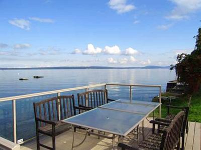 Imagine here enjoying the incredible views. - Vancouver Island 3 Bedroom Ocean View and Beach Front House in Chemainus BC - Chemainus - rentals