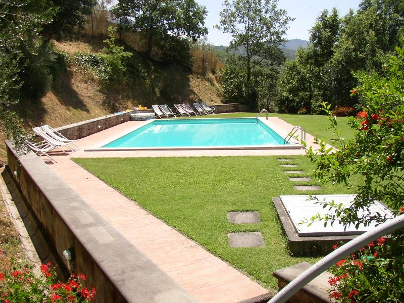 View of pool and lawns - Lovely Tuscan Cottage set in Private Estate of Tuscany - Castiglion Fiorentino - rentals