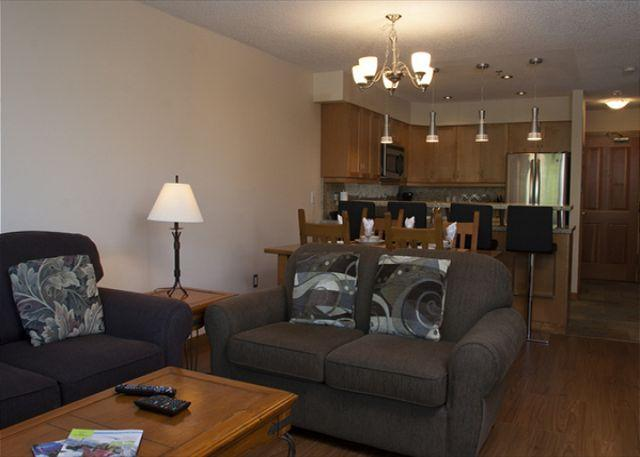 Living Area - Ski-in, ski-out, very spacious, newly renovated 1 bdrm - Whistler - rentals