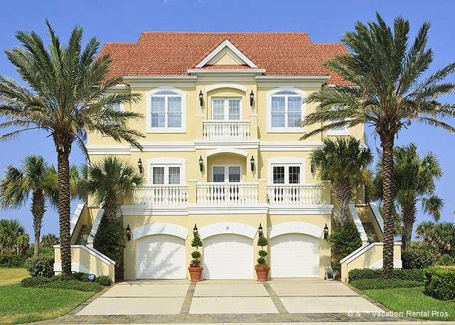 Welcome to Bella Vista Mansion in Palm Coast, Florida! - Bella Vista Mansion, BeachFront, Heated Pool/Spa, HDTV, Elevator - Palm Coast - rentals