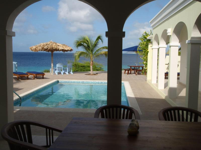 Enjoy and relax from your porch - Super luxury oceanfront villa with private pool! - Bonaire - rentals
