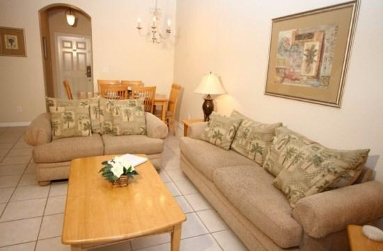 Living Area - RO3T2705CD Stylish 3 Bed Townhouse Near Walt Disney World - Kissimmee - rentals