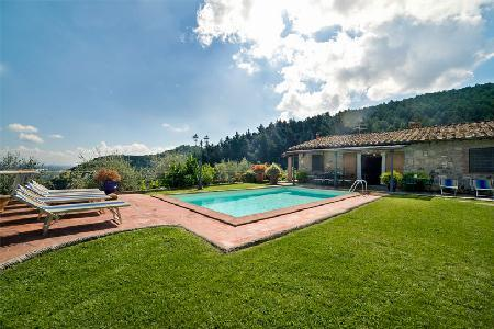 Al Mennucci- dazzling hillside views from serene garden with pool & pizza oven - Image 1 - Lucca - rentals