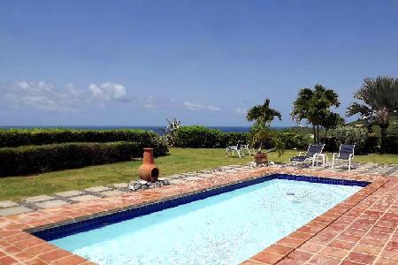 West Indian styleCaribbean Pearl villa on one level with A/C,  large outdoor area & pool - Image 1 - Saint Croix - rentals