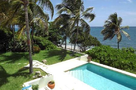 Beachfront Whispering Winds private, gated residence with pool & sun terrace off the master - Image 1 - Teague Bay - rentals