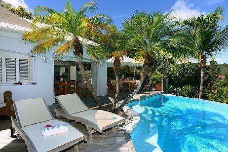Spacious La Desirade offers ocean views, intimate pool terrace & walk to beach - Image 1 - Saint Jean - rentals