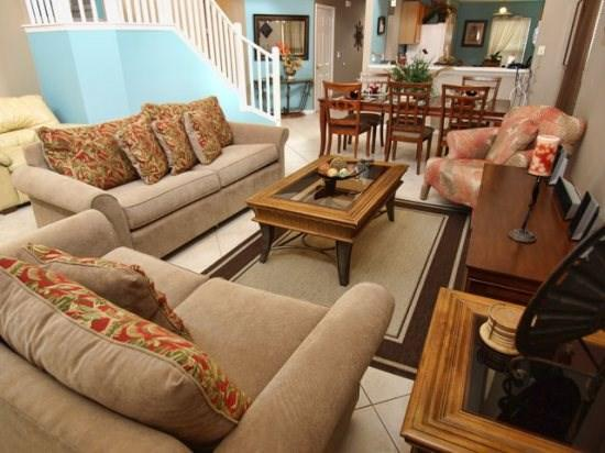 Living Area - EI6P8451SKC Luxury 6 Bedroom Rental Villa Perfect for Orlando Stay - Four Corners - rentals