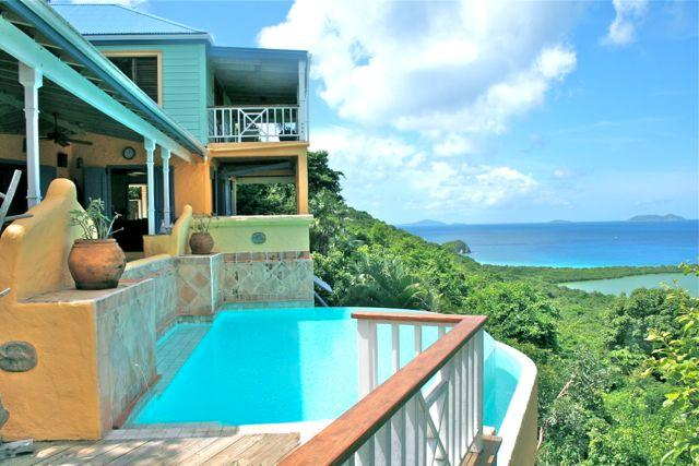 Stunning views to Smugglers Cove - Limeberry Villa - West End - rentals