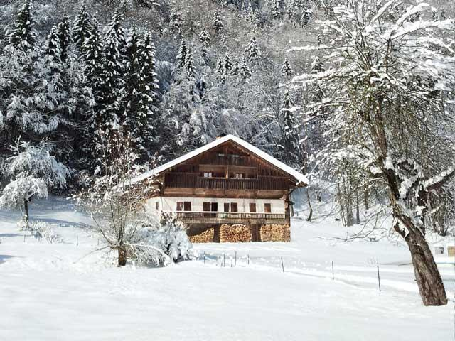 Our beautiful farm in winter - SPLENDID CHALET - POOL, SAUNA, JACUZZI - Le Grand-Bornand - rentals